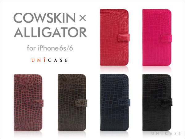 COWSKIN Diary ×ALLIGATOR for iPhone6s/6