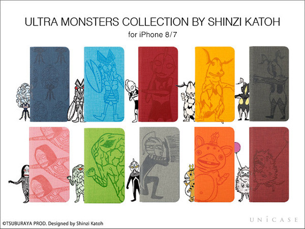 【iPhone8/7 ケース】ULTRA MONSTERS COLLECTION BY SHINZI KATOH ウォレットケース