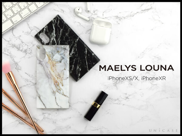 【iPhoneXR ケース】Maelys Collections Marble for iPhoneXR (Black)