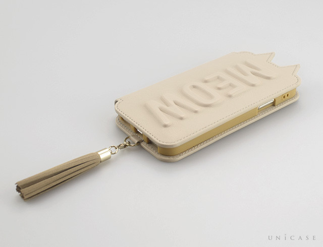【iPhoneXS/X ケース】Tassel Tail Cat for iPhoneXS/X (Beige)手帳型レビュー 全体