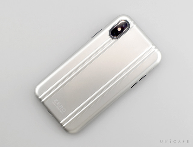 【iPhoneXS ケース】ZERO HALLIBURTON Hybrid Shockproof case for iPhoneXS (Silver)装着レビュー 全体