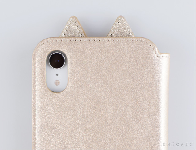 【iPhoneXR ケース】Tassel Tail Cat for iPhoneXR (Gold) 装着レビュー カメラ