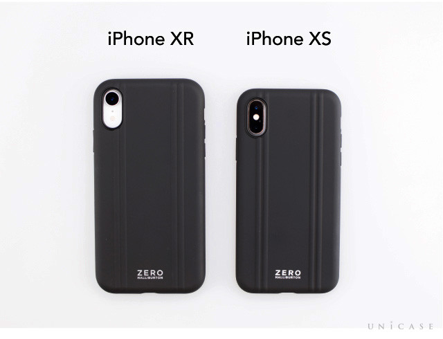 【iPhoneXR ケース】ZERO HALLIBURTON Hybrid Shockproof case for iPhoneXR (Black)装着レビュー iPhoneXSケースとの比較