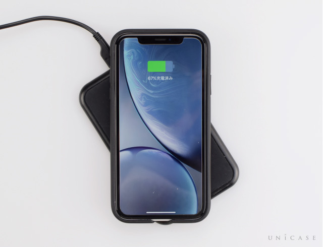 【iPhoneXR ケース】ZERO HALLIBURTON Hybrid Shockproof case for iPhoneXR (Black)装着レビュー ワイヤレス充電