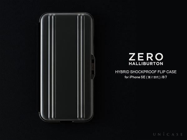 ZERO HALLIBURTON Hybrid Shockproof Flip Case for ZERO HALLIBURTON Hybrid Shockproof Flip Case for iPhoneSE(第2世代)/8/7