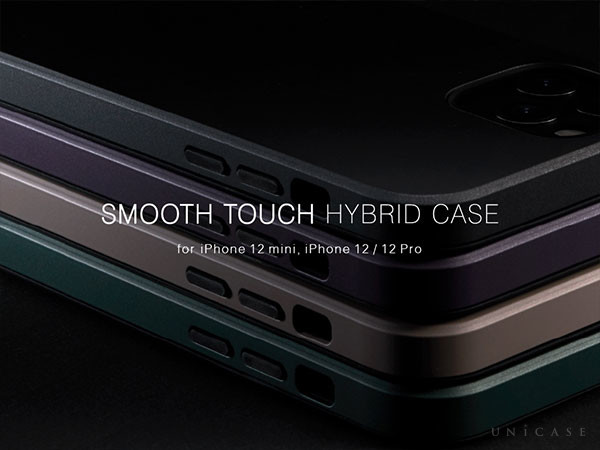 "【ZERO 【Apple最新端末iPhone 12 mini, iPhone12/12 Pro対応】丈夫でスリムなUNiCASEオリジナルiPhoneケース""Smooth Touch Hybrid Case"""