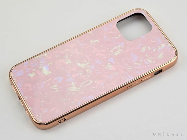 iPhone12 シリーズ Glass Shell Case ピンク