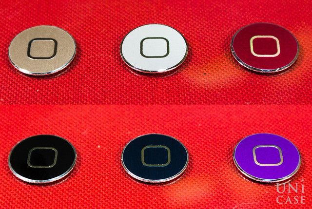 cleave aluminum home button dark night silver luxury gold flair red