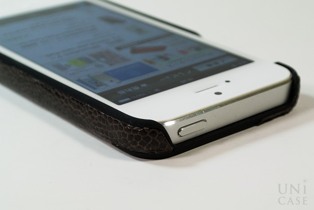 6f18af759997 【iPhone5s/5 ケース】動物皮モンスターケース Monster-Ostrich ダークブラウンの