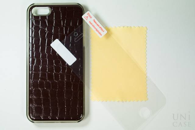 【iPhoneSE/5s/5 ケース】IC-COVER Leather (レザー調ワインレッド)の付属品
