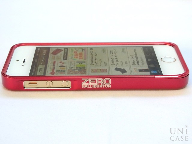 【iPhone5s/5 ケース】ZERO HALLIBURTON for iPhone5s/5 (Red)のロゴ