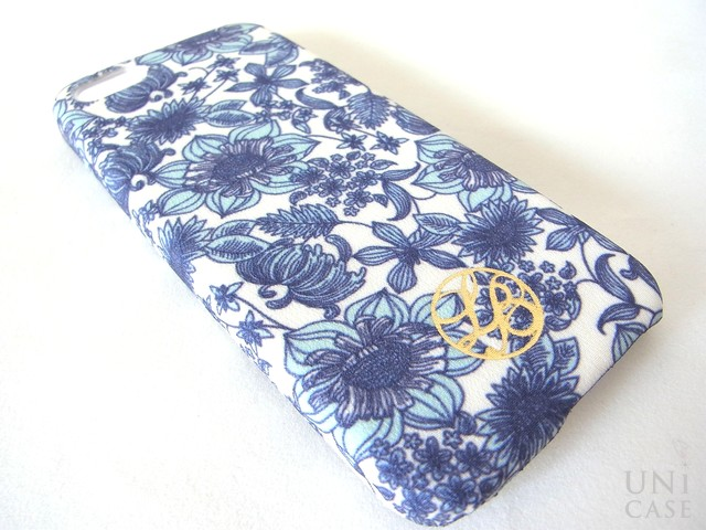 【iPhone5s/5 ケース】La Boutique フラワー iPhoneカバー for iPhone5s/5(BL)のプリント
