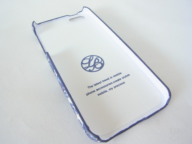 【iPhone5s/5 ケース】La Boutique フラワー iPhoneカバー for iPhone5s/5(BL)の内側
