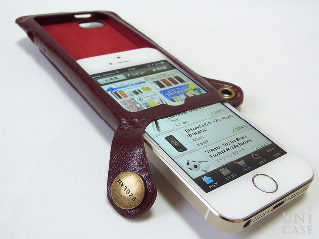 【iPhone5s/5 ケース】BZGLAM Wearable Leather Cover ブラウンの装着