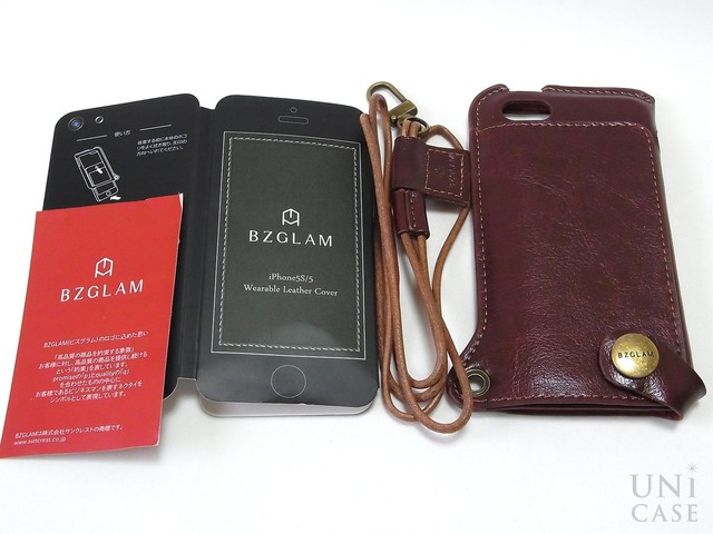 【iPhone5s/5 ケース】BZGLAM Wearable Leather Cover ブラウンの説明書