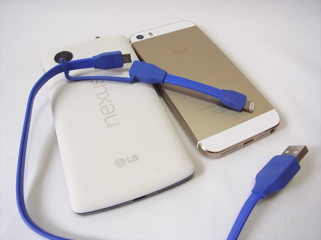 DUO SYNCABLE - MICRO/LIGHTNING - USB/0.3M BLUEのレビュー