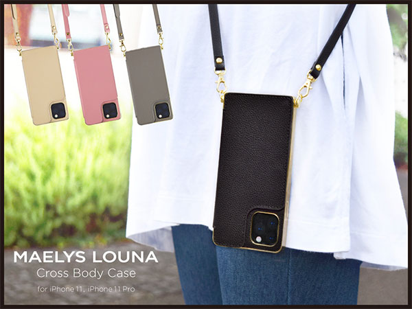 【MAELYS LOUNA】Cross Body Case for iPhone 11 Pro, 11