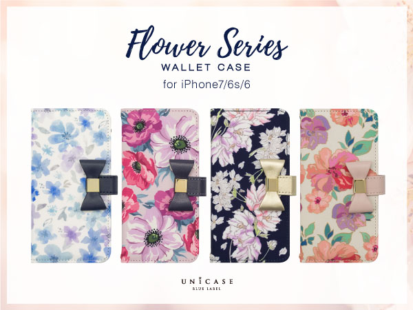 UNiCASE BLUE LABEL Flower Series wallet case