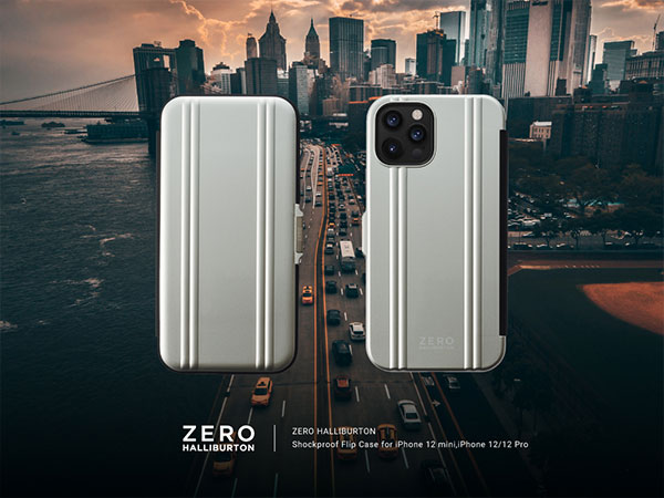 ZERO HALLIBURTON Hybrid Shockproof Flip case for iPhone12 Pro Max
