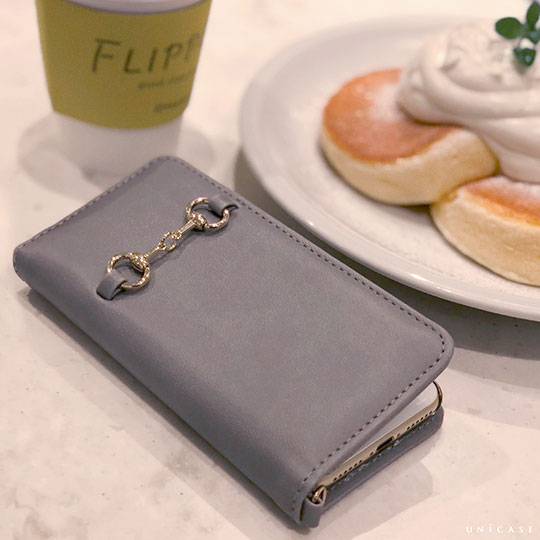 【iPhone8/7 ケース】Hami Diary for iPhone 8/7 Gray