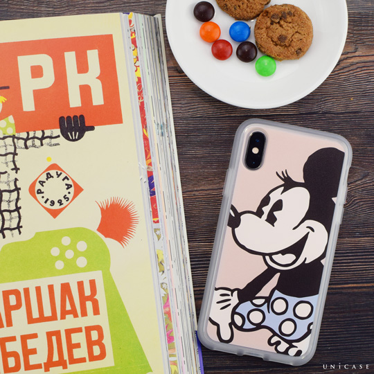 【iPhoneXS/X ケース】Disney Character / iPhone CASE for iPhoneX (Vintage Minnie)
