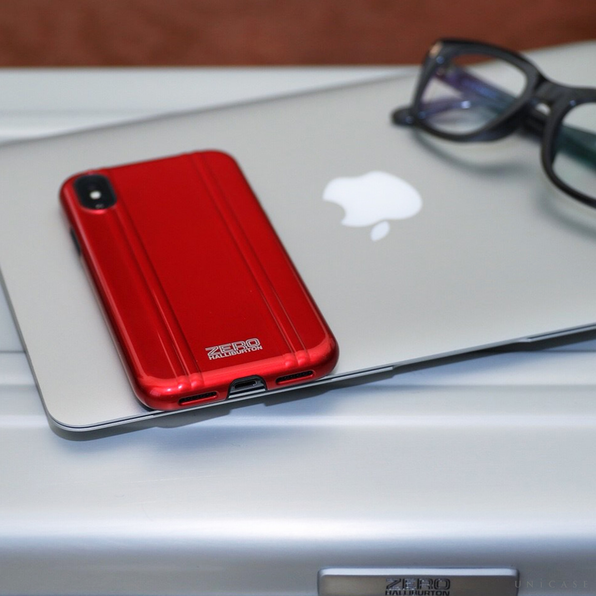 【iPhoneX ケース】ZERO HALLIBURTON Shockproof case for iPhone X レッド 詳細画像