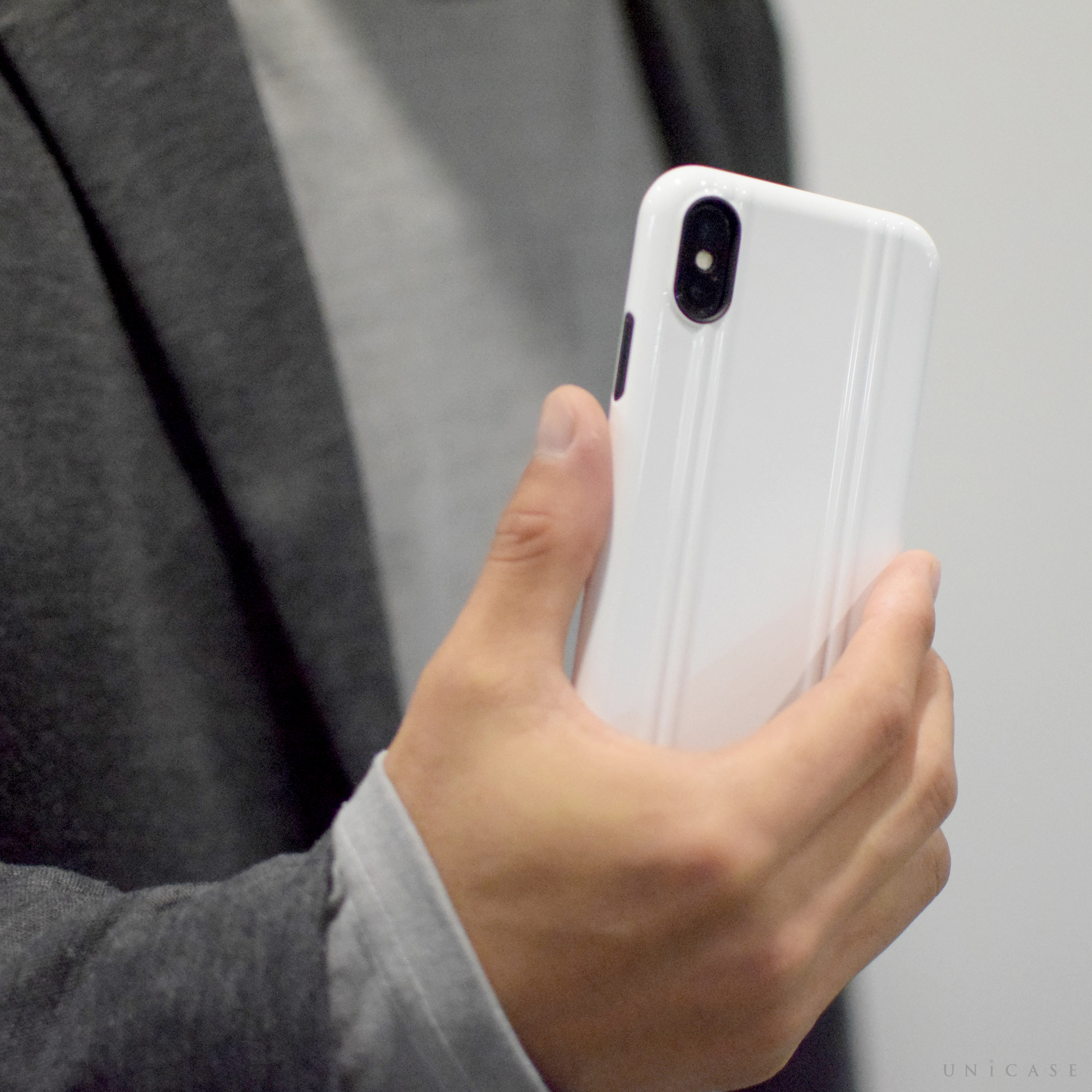【iPhoneX ケース】ZERO HALLIBURTON Shockproof case for iPhone X ホワイト 詳細画像02