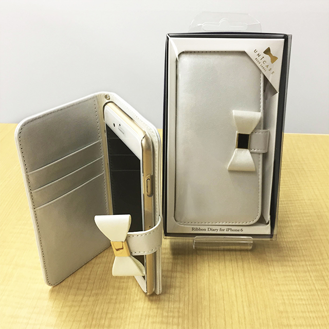 iPhone6sゴールドとRibbon Diary Ivory for iPhone6s/6