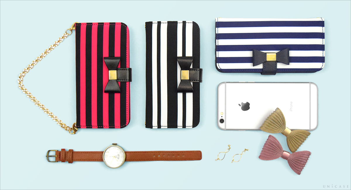 iPhone6s/6 ケース Ribbon Diary Stripe